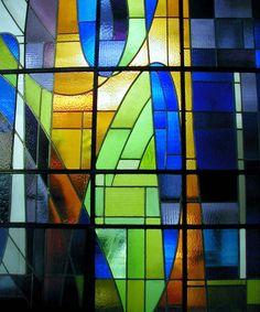Detalle del vitral del Maestro Carlos González Bogen ubicado en el CDCH-UCV (Quinta Silenia)