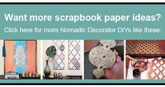 Nomadic Decorator   Scrapbook Paper Wall Art   http://nomadicdecorator.com