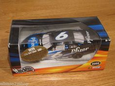 Nascar Hot Wheels racing viagra Mark Martin #6 Pfizer 54773 die cast car 2002