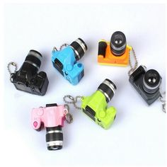 Car Key Chains Toy LED Luminous Plastic Digital SLR Camera Kids Camera Toy Sound Glowing Pendant Keychain Bag Accessories #Affiliate