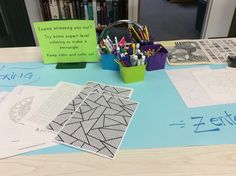 Keep calm and color on during exam days at the MUHS library!