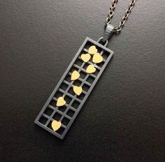 Falling leaves pendant of gold Keum Boo от KAZNESQ на Etsy