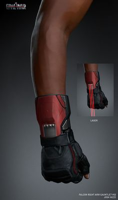 Concept art of 'Falcon' with right arm gauntlet and laser for 'Captain America: Civil War' - Visit to grab an amazing super hero shirt now on sale! Ninja Weapons, Sci Fi Weapons, Fantasy Weapons, Anime Weapons, Robot Concept Art, Armor Concept, Weapon Concept Art, Futuristic Technology, Technology Gadgets