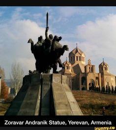Zoravar Andranik Statue, Yerevan, Armenia