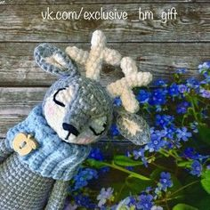 Sleepy olenenok of an amiguruma. Schemes and descriptions for knitting of toys a hook! #олень #олененок #сплюша
