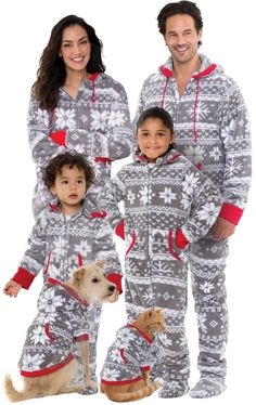 4f7247067a Hoodie-Footie™ Matching Family Pajamas - Nordic Fleece