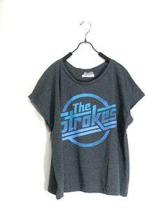 The strokes,women tshirt , dark gray shirt, crop top tank, women clothing, vest, rock tunic, Free size