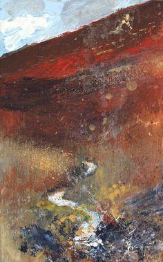 A Cornish Valley Landscape Artwork, Abstract Landscape, Abstract Watercolor, Abstract Art, Kurt Jackson, St Just, Inspirational Artwork, Art Inspo, Amazing Art