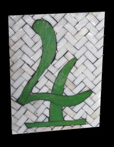 Tudor Number 4 Custom Numbers  Sequential Glass Art Mosaic