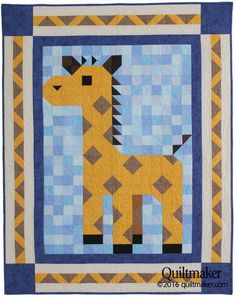 Lanky Patch Quilt Kit: A sweet giraffe has joined the family of Quiltmaker Patch Pals! Teddy Bear Quilt Pattern, Baby Quilt Patterns, Quilting Patterns, Quilting Ideas, Elephant Quilt, Boy Quilts, Scrappy Quilts, Mini Quilts, Animal Quilts