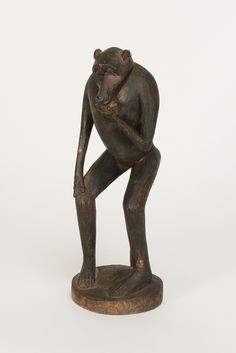 Hand-Carved African Ape Sculpture