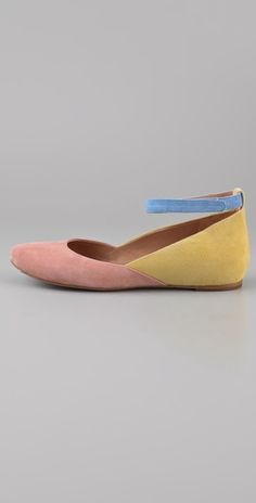 See by Chloe at Shopbop // #flats suede #pink #yellow
