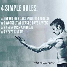 4 Simple Rules quotes quote exercise workout quotes exercise quotes