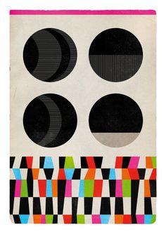 Geometric Exercise N.1. colorful & black. Geometric by edubarba