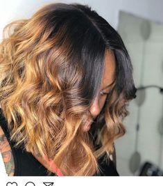 New Bob Haircuts 2019 & Bob Hairstyles 25 Bob Hair Trends for Women - Hairstyles Trends Front Hair Styles, Curly Hair Styles, Natural Hair Styles, Hair Front, Hair Laid, Hair Affair, Lace Hair, Hair Highlights, Ombre Hair