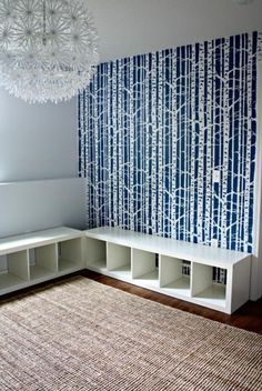 IKEA bookcase into a bench 3