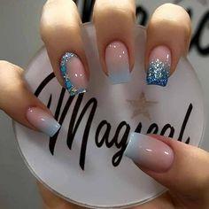 Acrylic Nails Coffin Pink, Short Square Acrylic Nails, Square Nails, Coffen Nails, Dope Nails, Pink Nails, Nail Art Designs Videos, Pretty Nail Art, Fabulous Nails