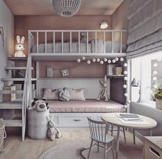 dream rooms for adults ; dream rooms for women ; dream rooms for couples ; dream rooms for adults bedrooms ; dream rooms for adults small spaces Girl Bedroom Designs, Room Ideas Bedroom, Bed Designs, Kids Bedroom Ideas For Girls, Bedroom Decor For Kids, Kid Bedrooms, Bunk Beds For Girls Room, Girl Kids Room, Room For Two Kids