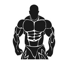 sports clipart image of a bodybuilder lifting free weights