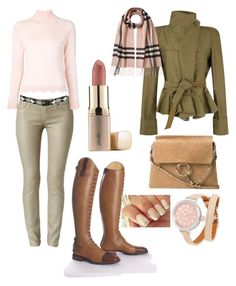 """blush pink & earth tones"" by stylemyride on Polyvore featuring Hudson, Pistil, Isabel Marant, Chloé, Simone Rocha, Jouer, Shinola and Burberry"