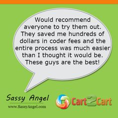 Check up what people say about Cart2Cart. #testimonials