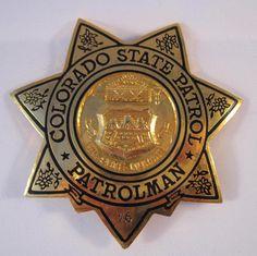 Classic Police Badges | ... Vintage Rare Colorado State Patrol Patrolman Police Badge Pin Back