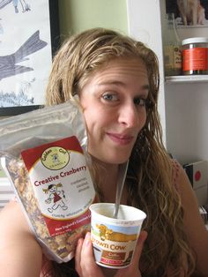 """How about Golden Girl Granola's """"Creative Cranberry"""" and Brown Cow coffee yogurt for a yummy lunch? Ummm YES :)"""