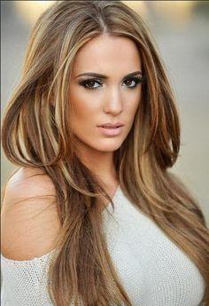 Long Brown Hair Color 2014