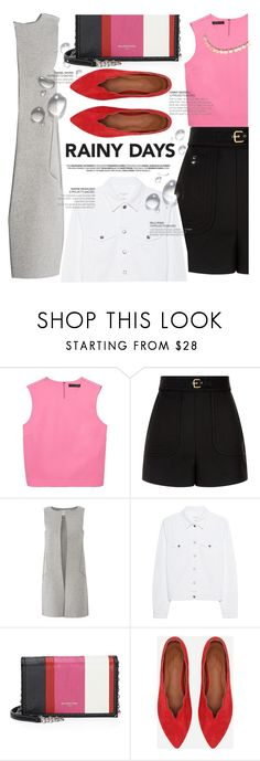 """""""Puddle Jumper: Rainy Day Outfits"""" by blackadonia ❤ liked on Polyvore featuring RED Valentino, Amanda Wakeley, rag & bone, Balenciaga and rainydayoutfit"""