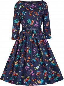 LindyBop šaty Holly, motýlkové