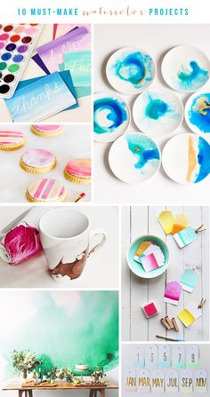 10 Must-Make Watercolor Projects | The Blissful Bee