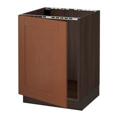 "SEKTION Base cabinet for sink IKEA The door can be mounted to open to the left or right. Sturdy frame construction, ¾"" thick."