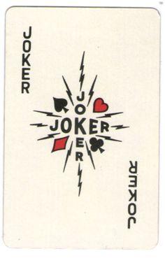 SINGLE VINTAGE KLING MAGNETIC STEEL PLAYING CARD JOKER c1960s #145