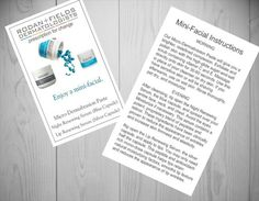 30 Instruction Cards for MiniFacial Sample  Rodan by RFConsultants