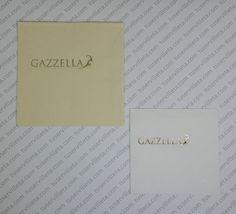Servilletas Impresas Personalizadas Gazzella tamaño 24x24 y 20x20 (12x12 cm. y 10x10 cm. cerrada) calidad 3 Capas, Vainilla y Blanca, impresión en tinta Oro