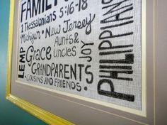 burlap wall art