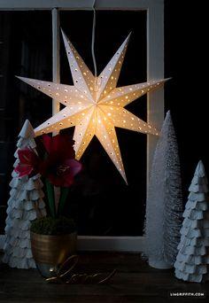 DIY Paper Star Window Decoration