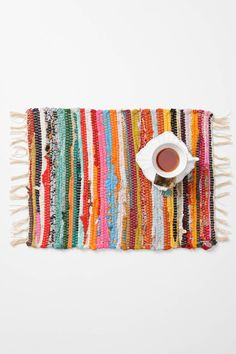 Rag Rug Placemats from Anthropologie (saw these as part of a tablescape at the store and they look great)