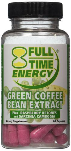 Full-Time Energy Pure Green Coffee Bean Extract Plus Raspberry Ketones and Garcinia Cambogia Complete Complex Capsules- Lose Weight Fast and Burn Fat With These Extreme Weight Loss Diet Pills - The Best Natural Fat Burners and Weight Loss Supplement Formula That Works for Men and Women ^^ Unbelievable product is here! : Garcinia cambogia