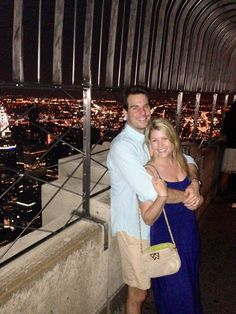 Spotted: Sterling Oles with her mingle mingle mini at the top of the Empire State Building! - NYC