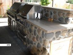 Custom stove, grill and countertops. Outdoor Kitchens, Barbecue, Stove, Countertops, Life Is Good, Grilling, Good Things, Outdoor Decor, House