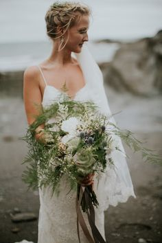 Windy Tunnels Beaches Wedding in Devon with Willow by Watters Wedding Dress