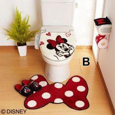 pretty and cute Minnie Mouse bathroom sets ideas – home design – kids bathroom decor Disney Bathroom Sets, Mickey Bathroom, Mickey Mouse House, Mickey Minnie Mouse, Bathroom Crafts, Kid Bathroom Decor, Disney Rooms, Disney Home Decor, Quilting Patterns