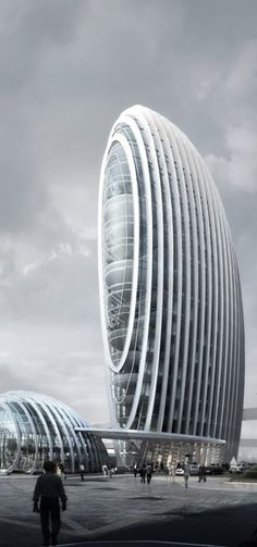 Taipei Nangang Office Tower, Taipei, Taiwan, China designed by Aedas #bodegas