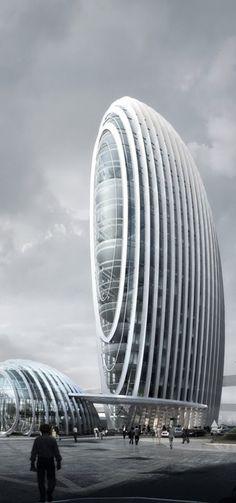 Taipei Nangang Office Tower, Taipei, Taiwan, China designed by Aedas Beijing