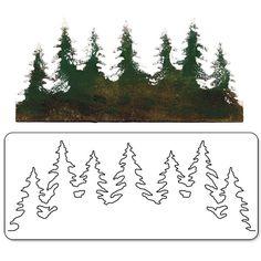 Sizzix - vyřezávací šablona Bigz TREE LINE