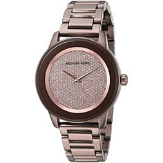 40a30068d22c Michael Kors Women s MK6245  Kinley  Crystal Brown Stainless Steel (Silver)  Watch Stainless