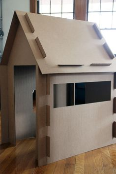 Want to make a fun playhouse design at home like a pro using cardboard boxes? Then just have a look at these DIY Cardboard House Ideas that will make you a big fan Cardboard Houses For Kids, Cardboard Playhouse, Cardboard Crafts, Diy Cardboard Furniture, Forts En Carton, Diy Karton, Carton Diy, Ideias Diy, Diy Toys