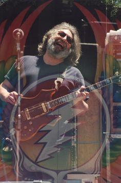Jerry Garcia, Frost Amphitheatre, Stanford U., Palo Alto, CA 05/02/1987