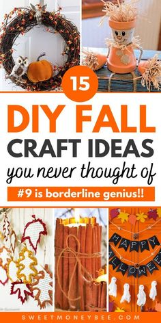 Fall Crafts For Adults, Fall Arts And Crafts, Easy Fall Crafts, Diy Crafts To Do, Halloween Crafts, Holiday Crafts, Holiday Ideas, Fall Decorations, Halloween Decorations